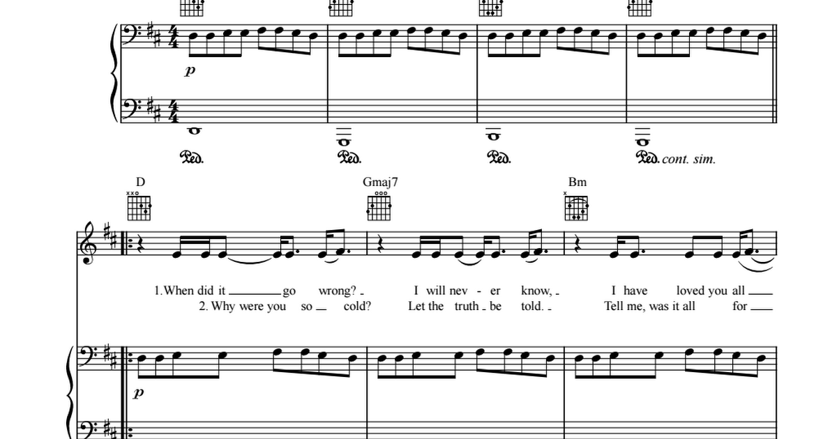Can T Let Go Sheet Music Adele Sheetmusic Free Com Pdf Sheet Music Let It Be Cant Let Go