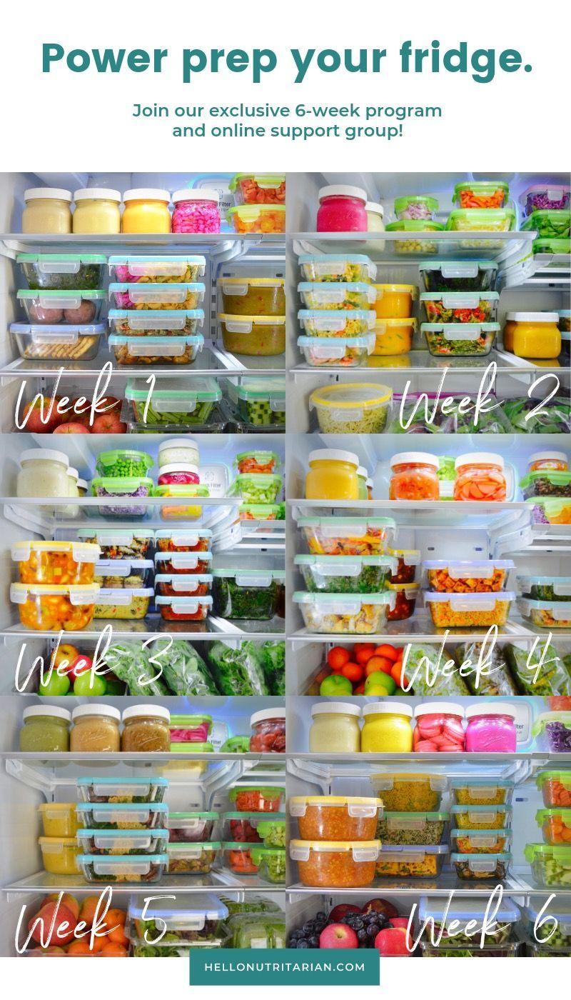 The Eat to Live Fridge #mealprepplans