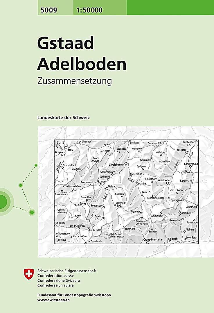 Landeskarte Der Schweiz Gstaad Adelboden Karte Im Sinne Von