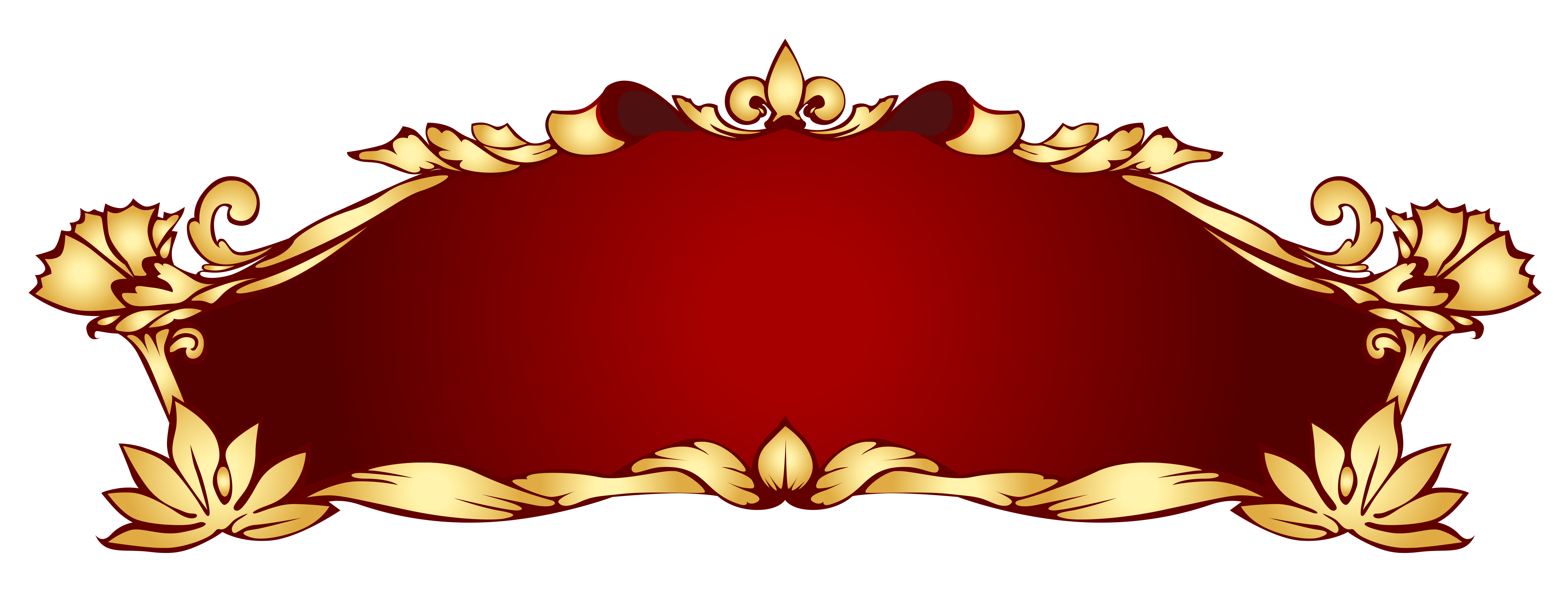 Transparent Red Deco Banner PNG Picture Banner clip art