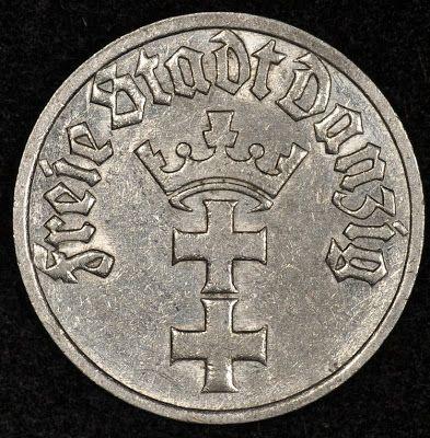 Danzig Coins Half Gulden Coin Of 1932