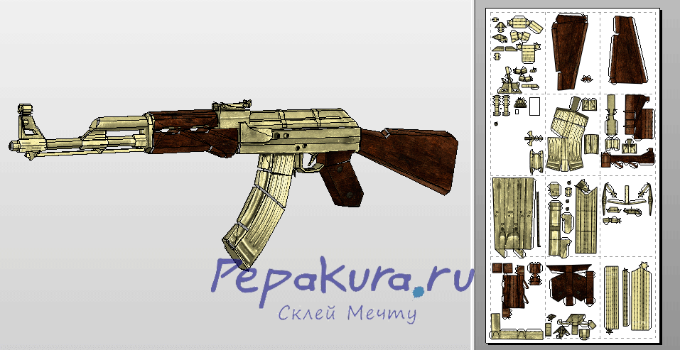 ak47 download template papercraft paper models paper crafts