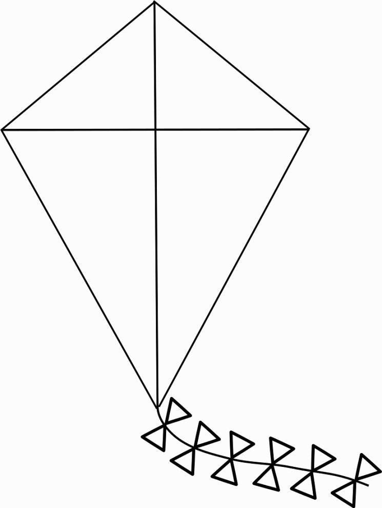 Kite Coloring Page Kalıplar Pinterest Kites, Daycare crafts - kite template