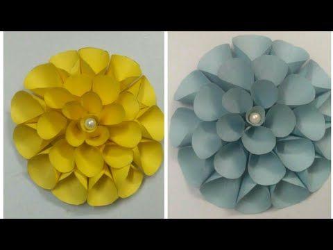 DAHLIA PAPER FLOWER - METHOD-2 - YouTube   my craft work-Navkaar ...
