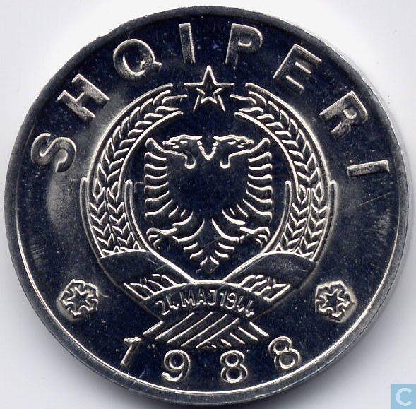 Coins - Albania - Albania 50 qindarka 1988
