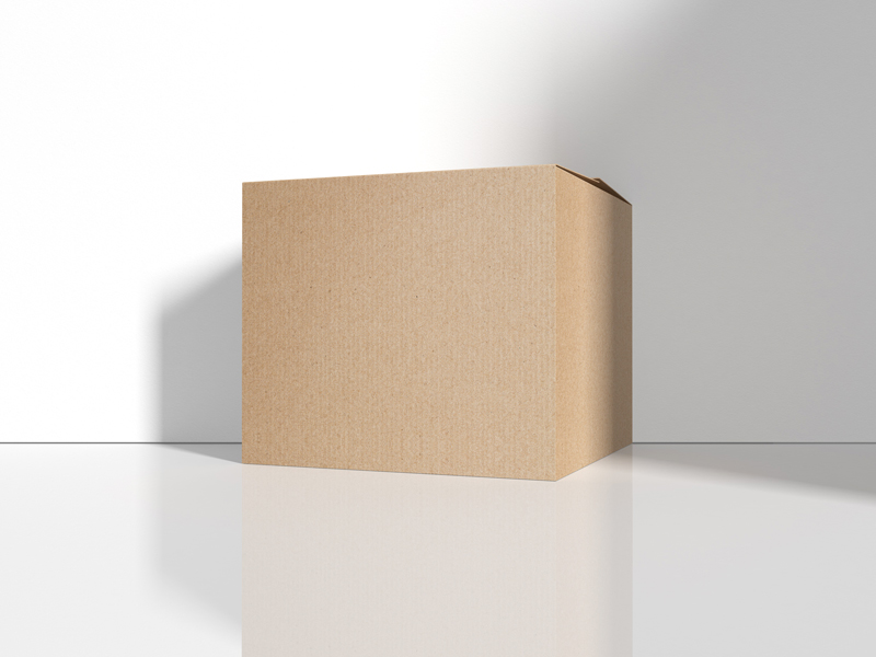 Download Free Cargo Delivery Cardboard Box Mockup | Dribbble ...