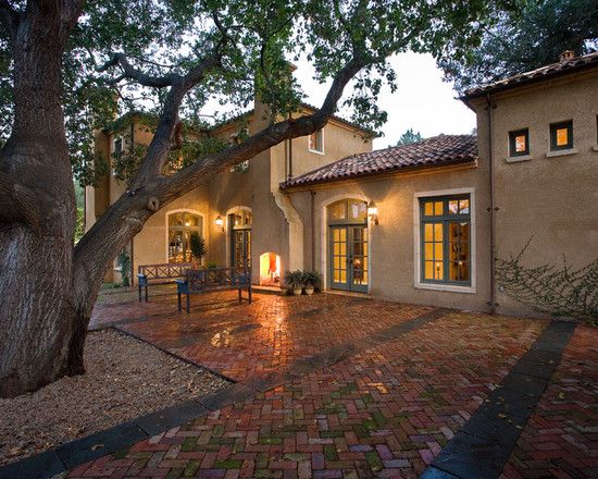 Exterior colors and finishes warm sand stucco aged red tile roof muted green