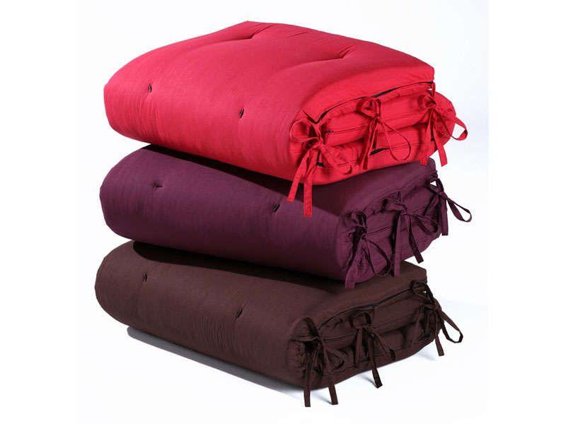 matelas futon ouate 80x190 cm coloris aubergine vente de lit d 39 appoint et matelas gonflable. Black Bedroom Furniture Sets. Home Design Ideas