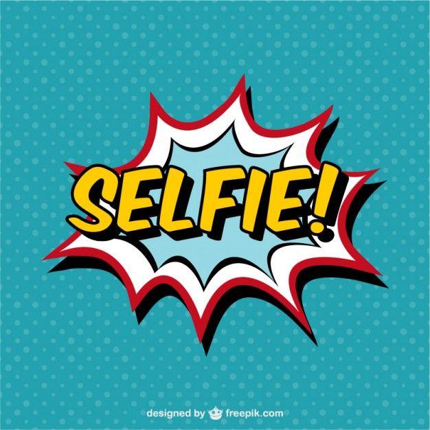 326ebca3b0e86 Rótulo de selfie estilo cómic Vector Gratis