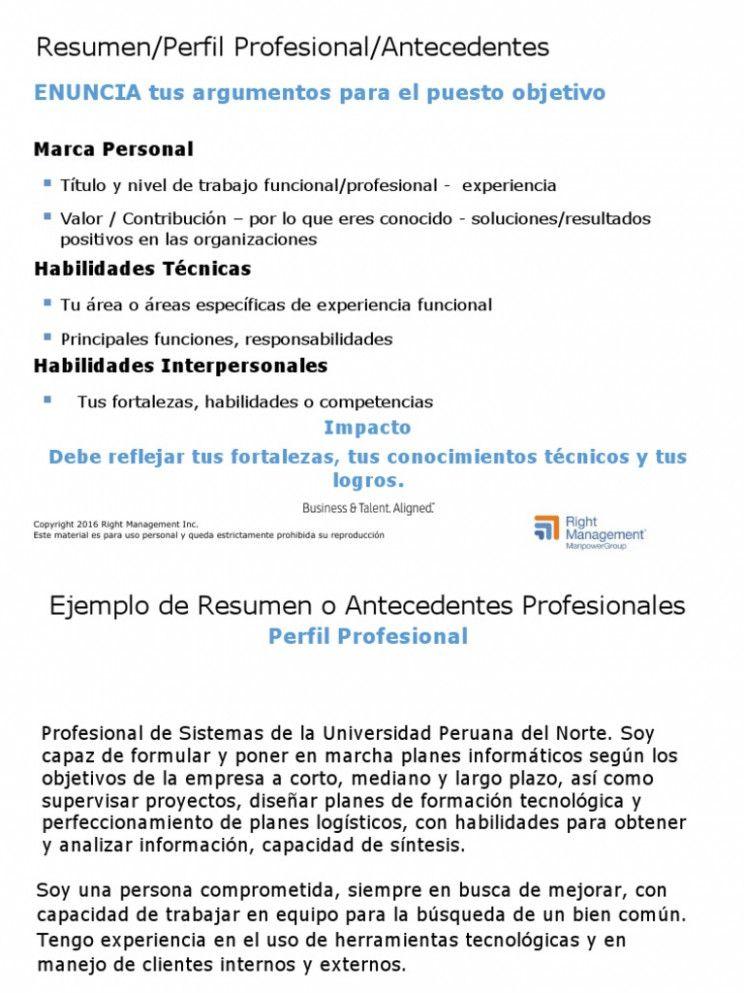 12 Q Es Un Resumen Profesional In 2020 Resume Examples Resume Inbox Screenshot