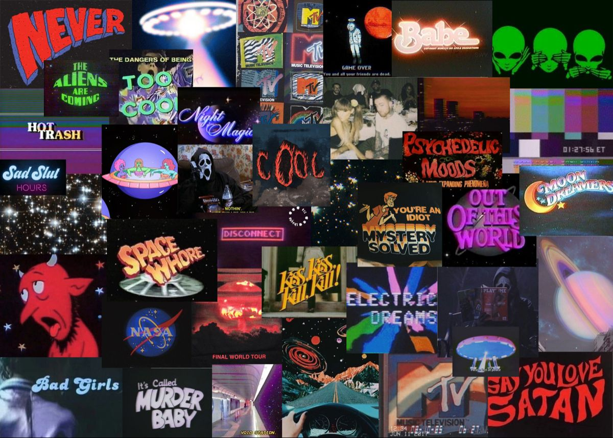 Vhs Space Aesthetic Laptop Wallpaper Edgy Wallpaper Iphone Wallpaper Tumblr Aesthetic Macbook Wallpaper
