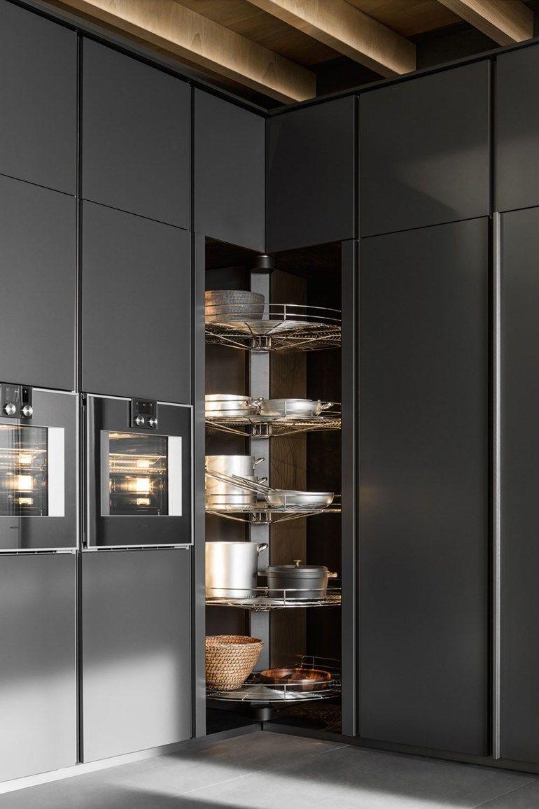 tall lazy susan corner cupboard   Kitchen with island by DADA ...