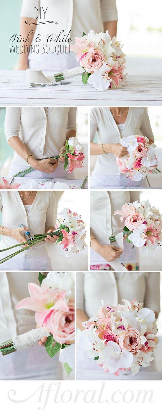 How to Assemble a Simple Silk Flower Bouquet | Silk flower bouquets ...