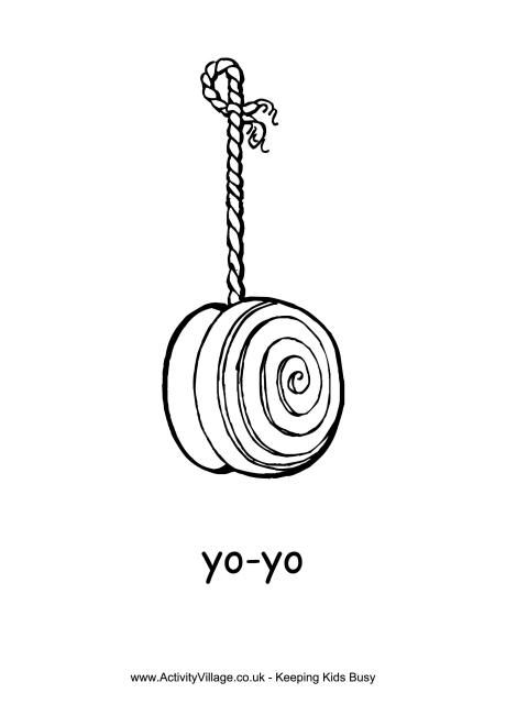 Coloring Pages Yoyo : Yo colouring page it s national day