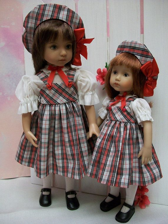 "Sisters #4 Effner Little Darling and 10.5/"" Boneka Pattern Skirts Blouses Hats"