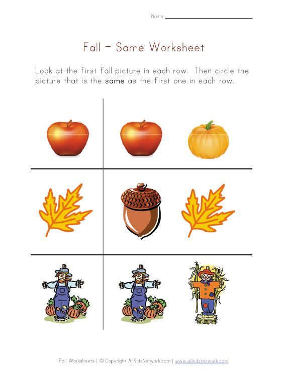 Worksheets Fall Worksheets For Preschool worksheets fall and for kids on pinterest