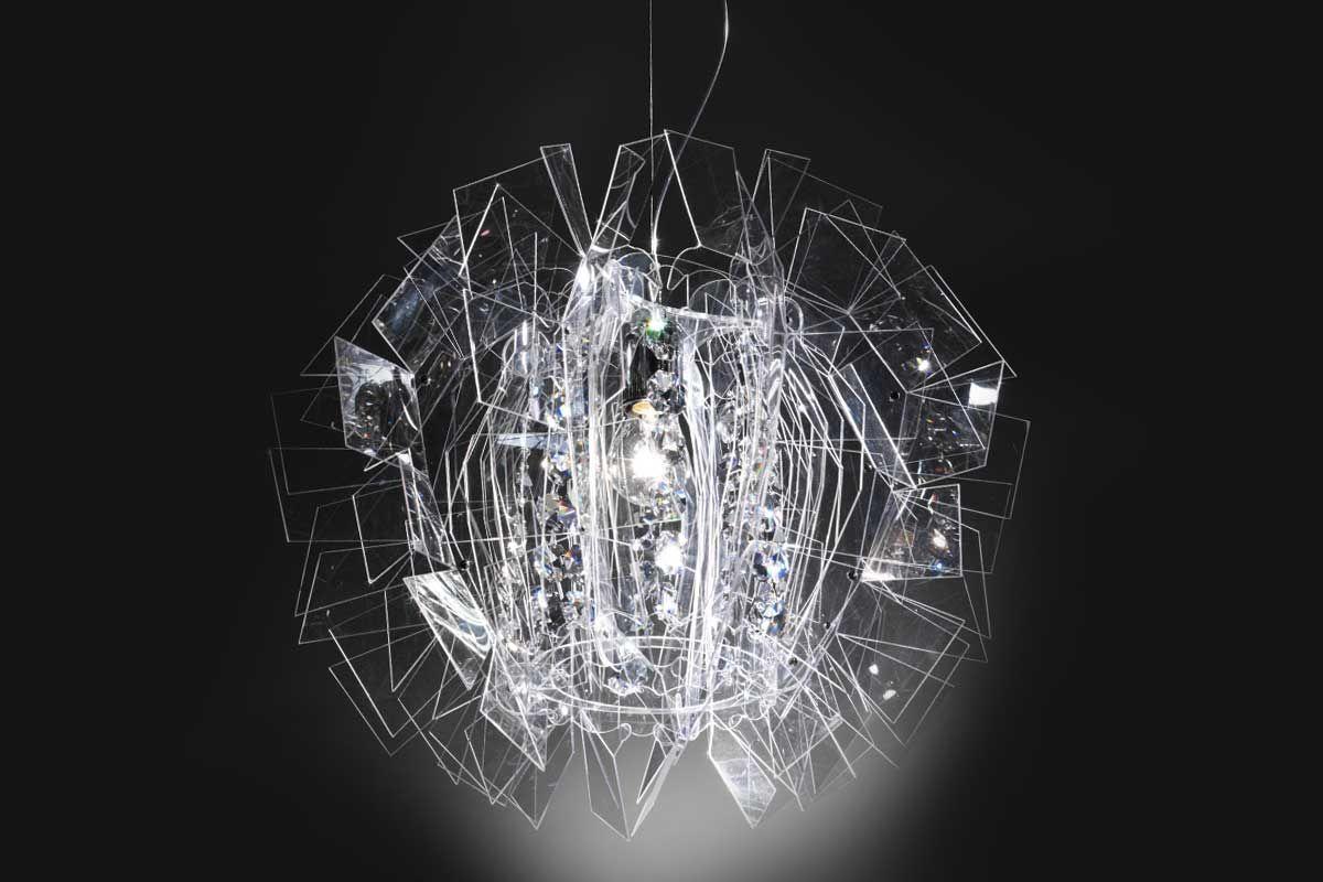 Lampadario Fiorella Slamp : Slamp crazy diamond suspension lamps plafoniera lampadari e