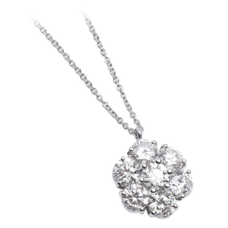 Graff diamond platinum flower pendant necklace flower pendant graff diamond platinum flower pendant necklace aloadofball Gallery