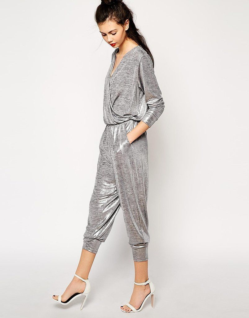 0d3664541f40 Monki Metallic Jumpsuit  Monki Metallic Long Sleeve Jumpsuit in Silver ( 76)