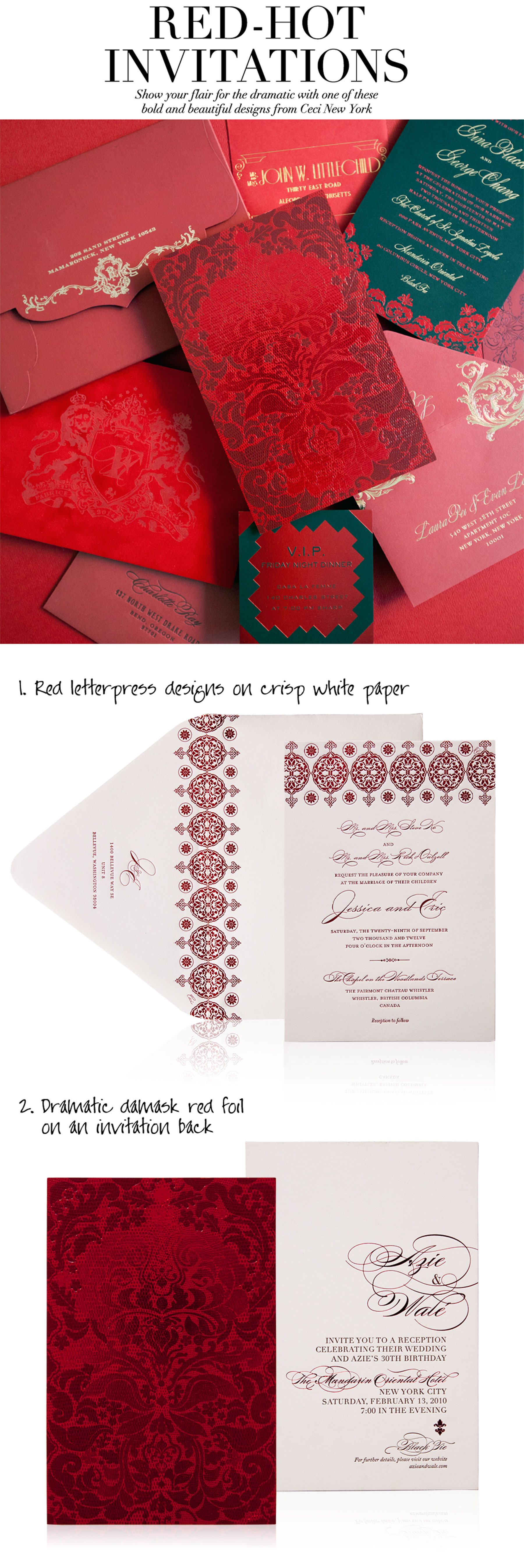 RED-HOT INVITATIONS - Show your flair for the dramatic with one of ...