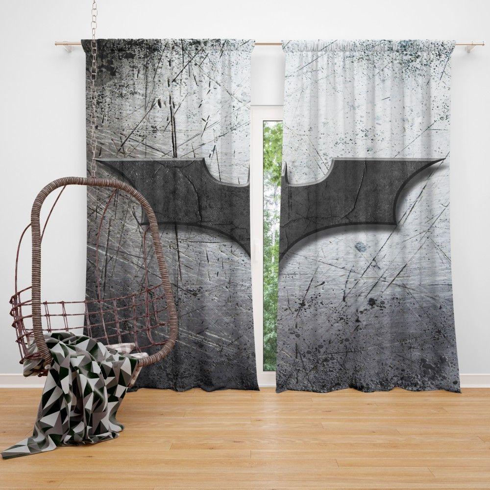 Dc Comics Batman Logo Curtain Super Heroes Bedding Batman