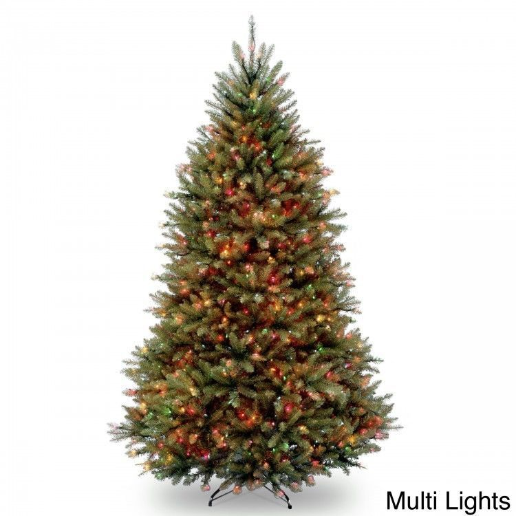 Pre Lit Christmas Tree Dunhill Fir Artificial 75 Foot Stand 750