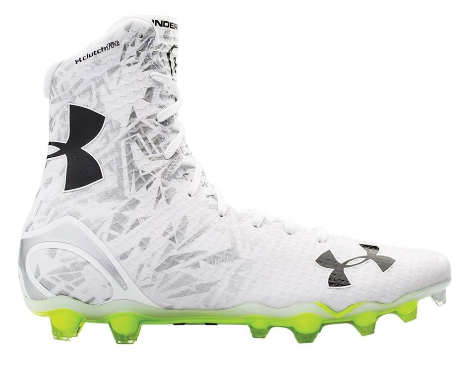 Under Armour White/Silver Highlight Cleats