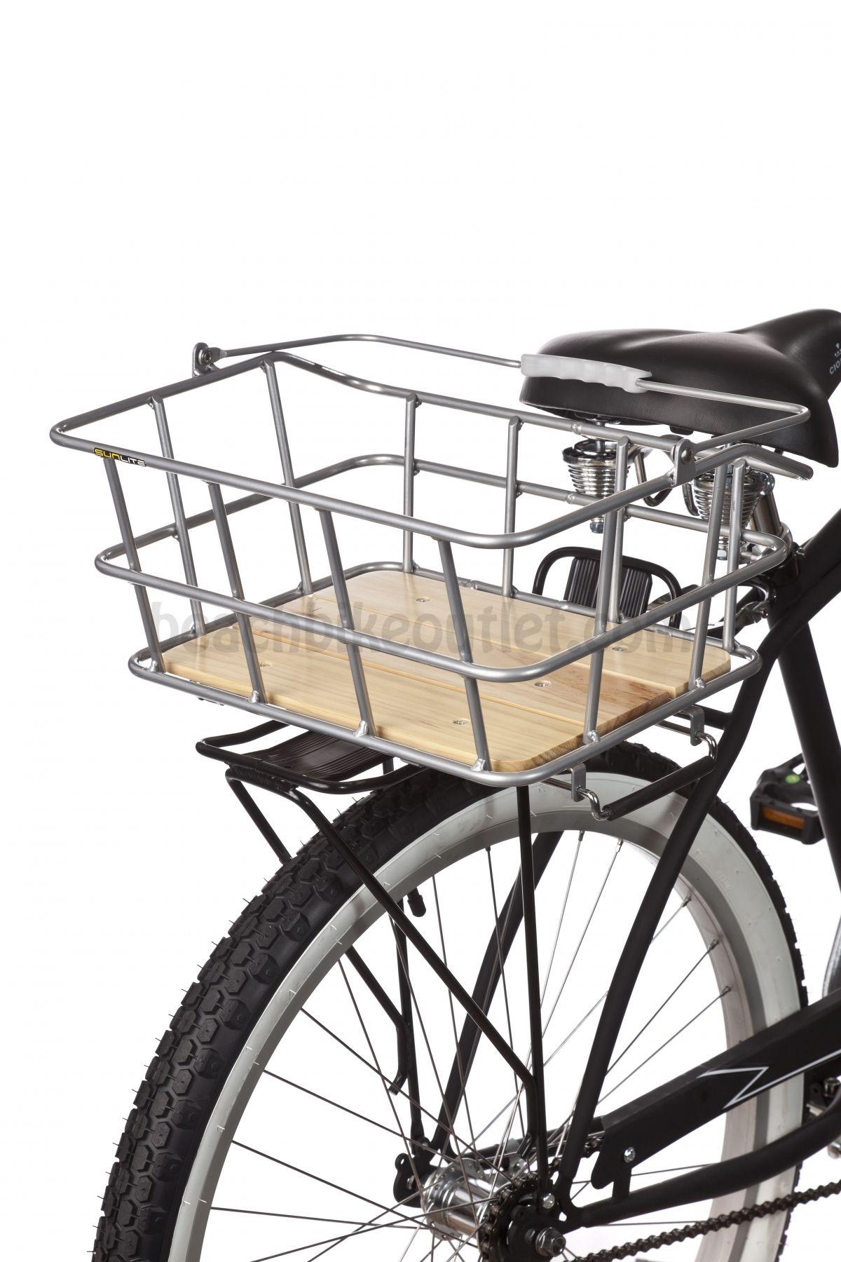 Sunlite Woody Rack Top Rear Basket Rear Bike Rack Everyday