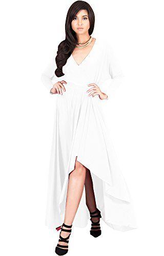 7e9906b69ce KOH KOH Womens Long Sleeve Sleeves Wrap Slit Split Formal Fall ...