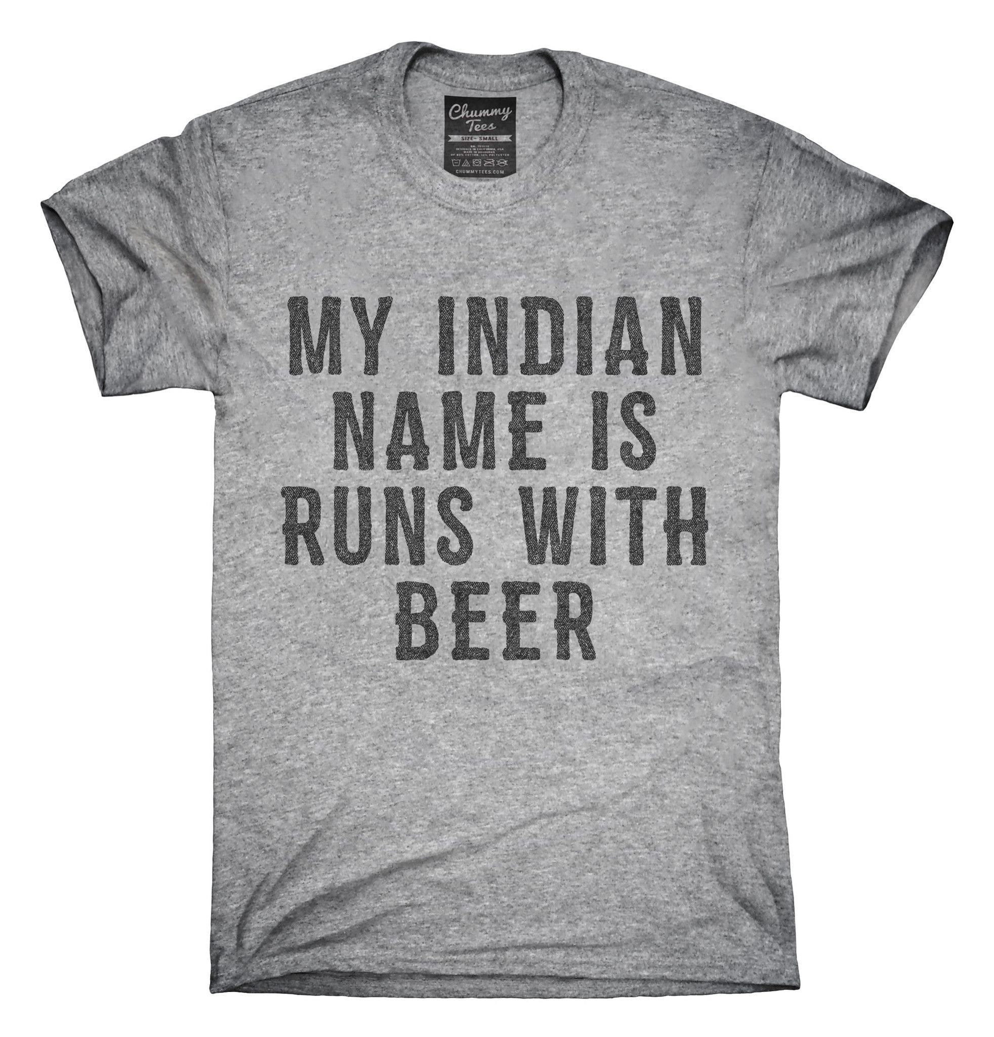 My Indian Name Is Runs With Beer Funny T Shirt Hoo Tank Top