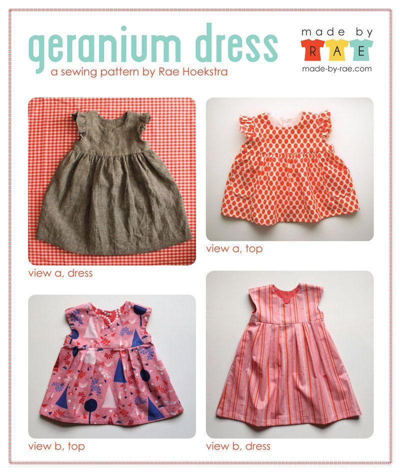 Geranium Dress Views | Nähen Kinderkleidung | Pinterest | Sewing ...