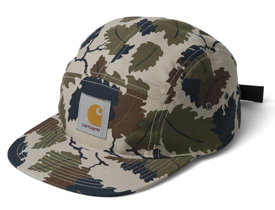 18c04fd64fb Camo Mitchell 5 Panel Cap by STARTER x CARHARTT