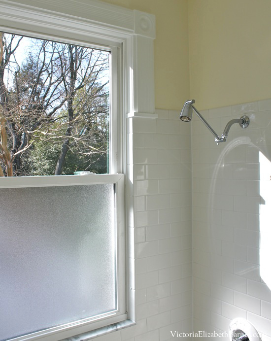 Photo of Solution to the large window IN the shower… Simple DIY cover!