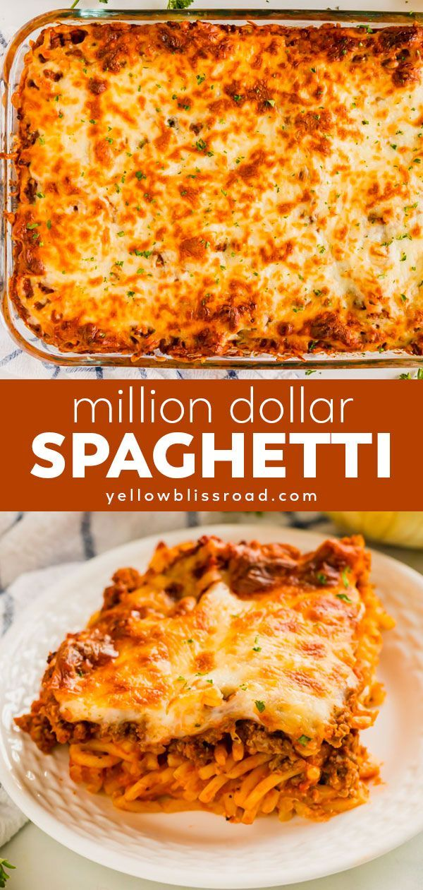 Million Dollar Spaghetti Casserole   YellowBlissRoad.com