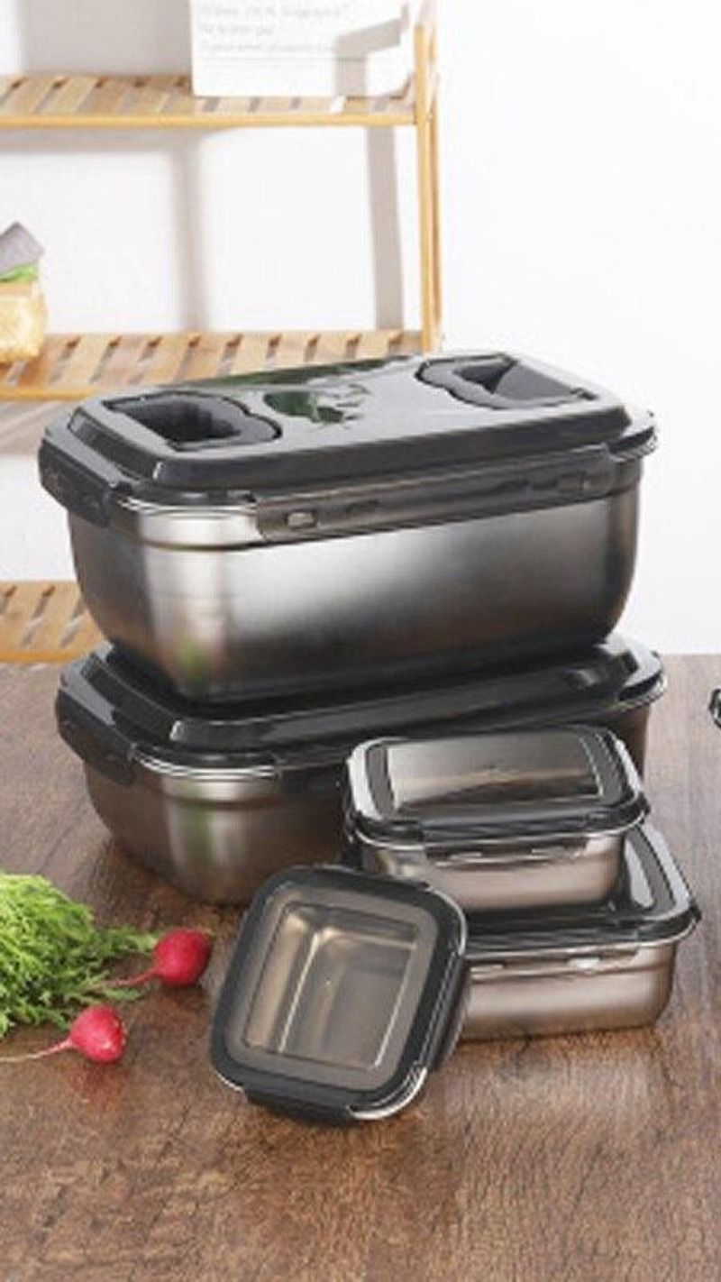 Stainless Steel Food Containers Storage Food Containers Food