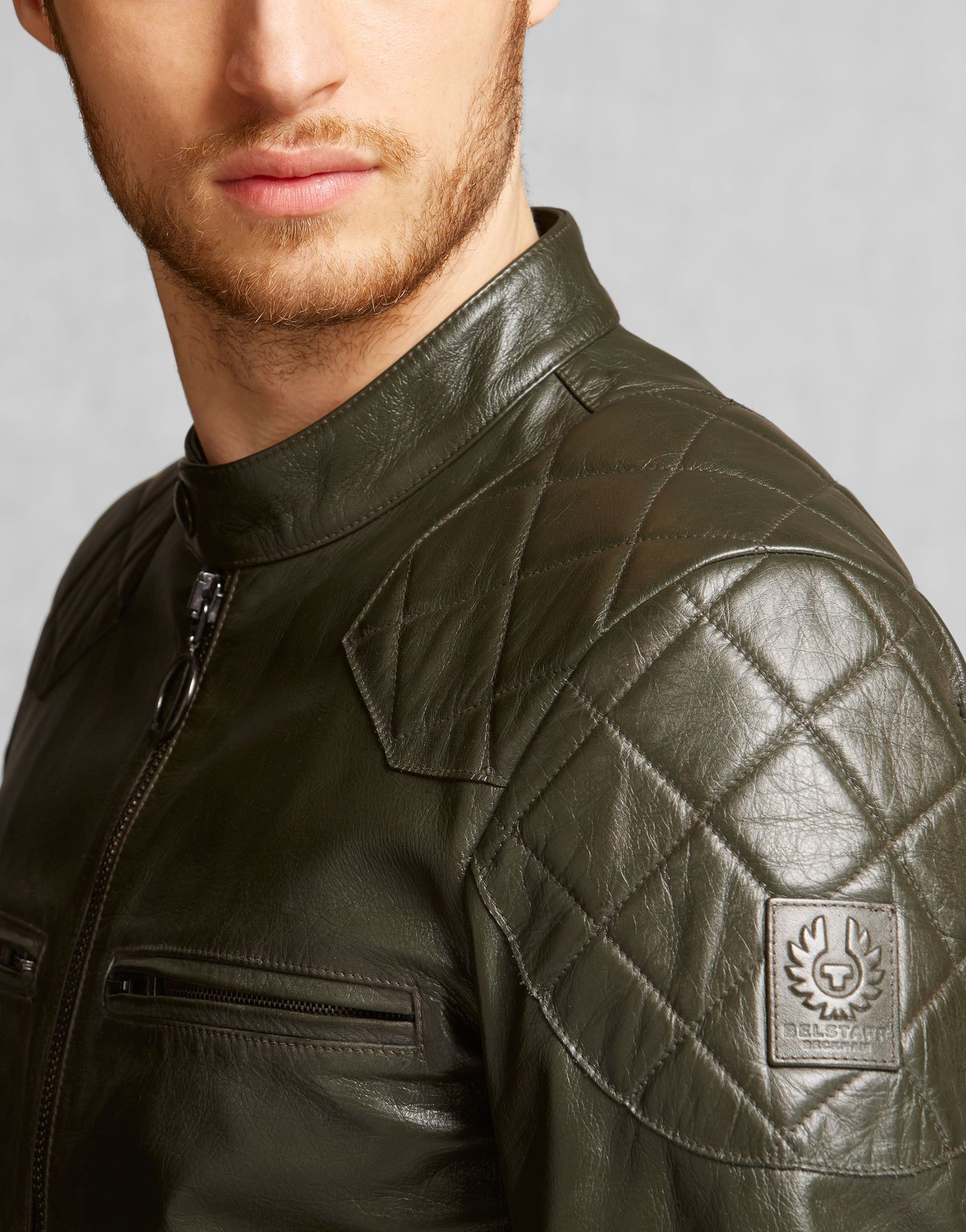 Stannard Jacket Racing Green Leather Men's Sale (With