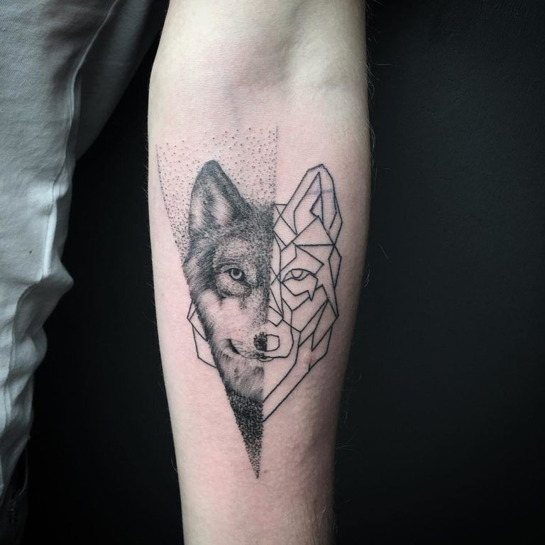 The 85 Best Wolf Tattoos For Men Improb Tattoos For Guys Wolf Tattoos Men Geometric Wolf Tattoo