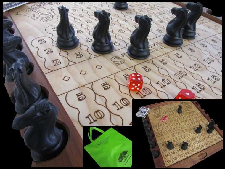 Horse Race (board game made of Roasted Maple and Baltic ...