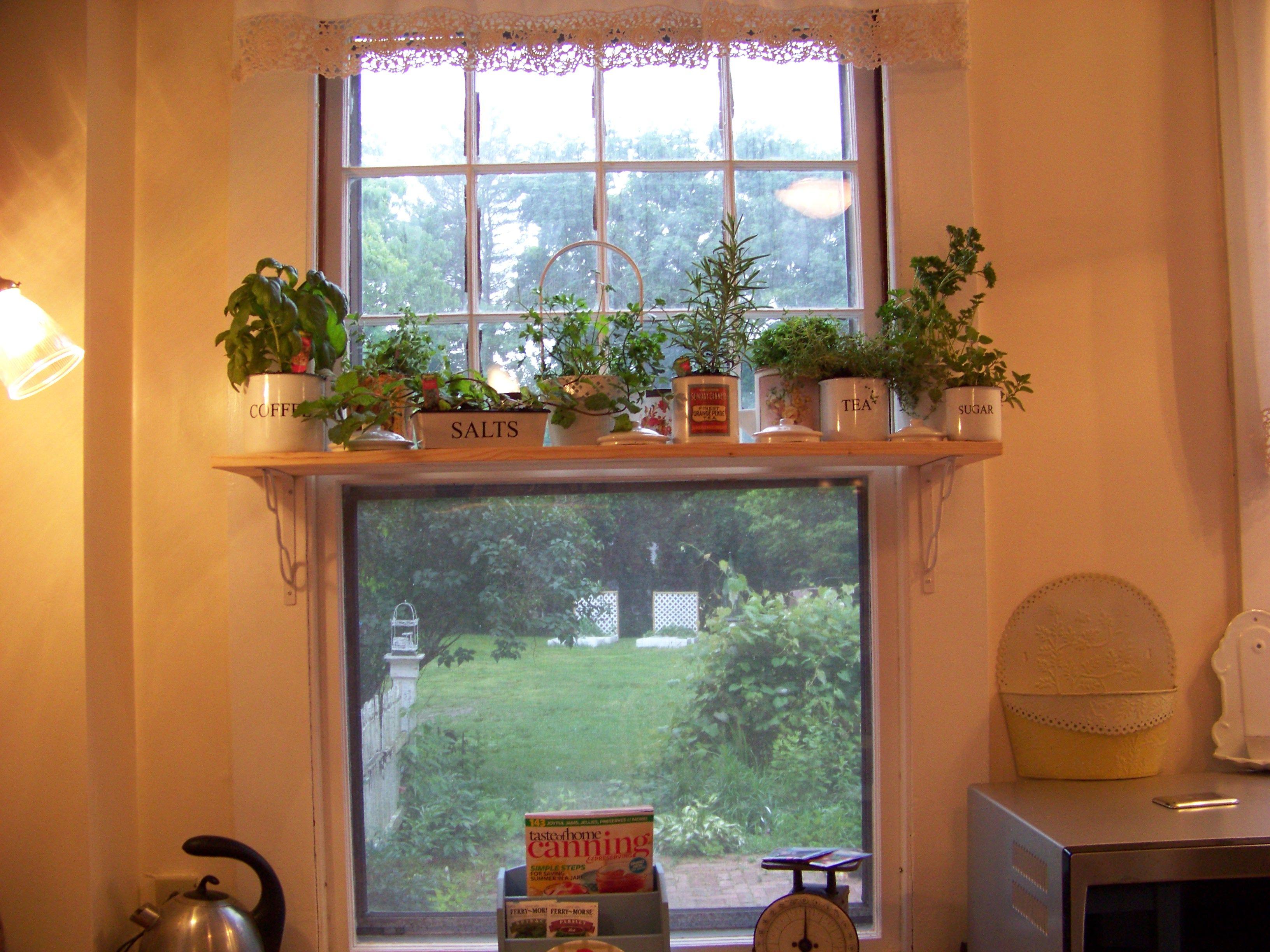 Window for kitchen  my new herb shelf in the kitchen window  kitchen  pinterest
