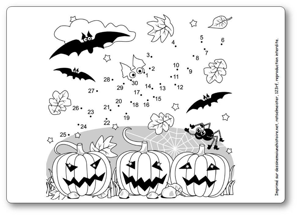 Jeux De Points A Relier Pour Halloween Points A Relier Halloween