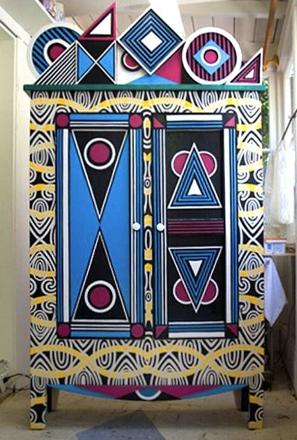 Argentine Artist Lucas Risé's Colorful Cabinets - AphroChic | Modern Global Interior DecoratingAphroChic | Modern Global Interior Decorating