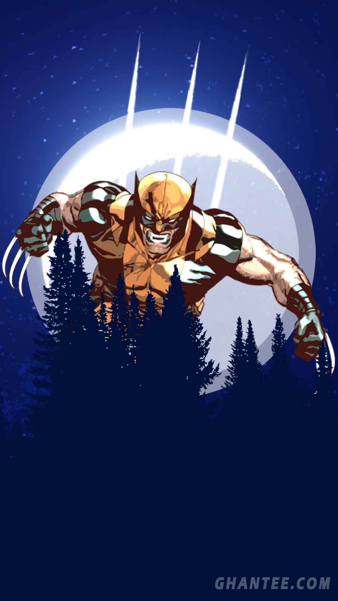 Wolverine Hd Phone Wallpaper Full Hd Hd Phone Wallpapers Phone Wallpaper Minimalist Wolverine Wallpaper