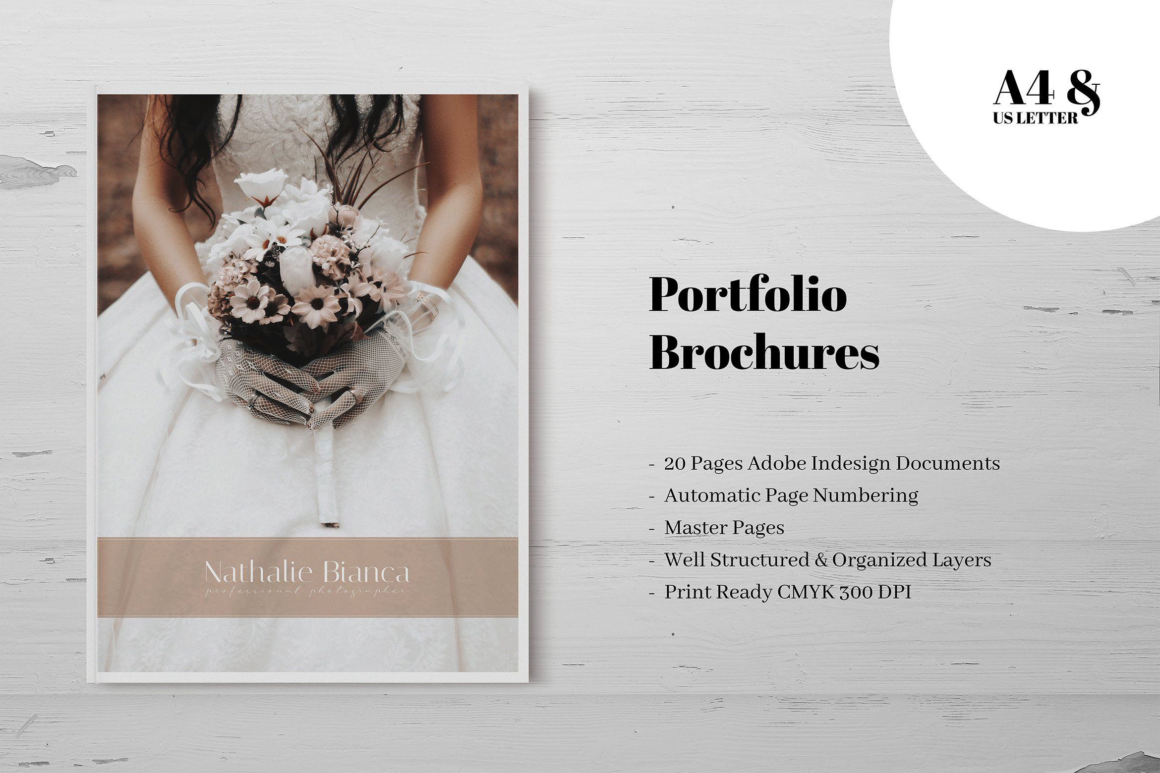 Beige Cotton Cloth Indesign Brochure Templates Photography