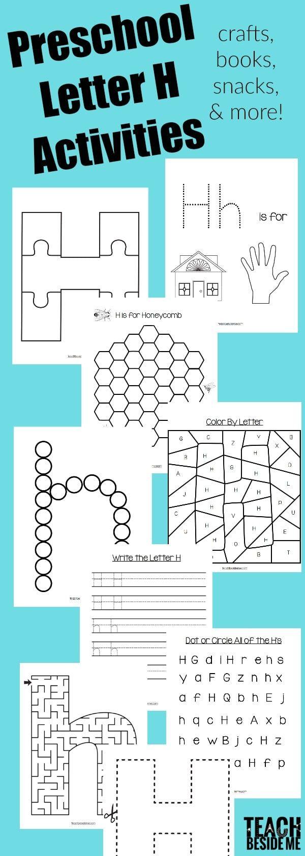 Workbooks letter h worksheets for kindergarten : Letter of the Week: Preschool Letter H Activities | Craft books ...
