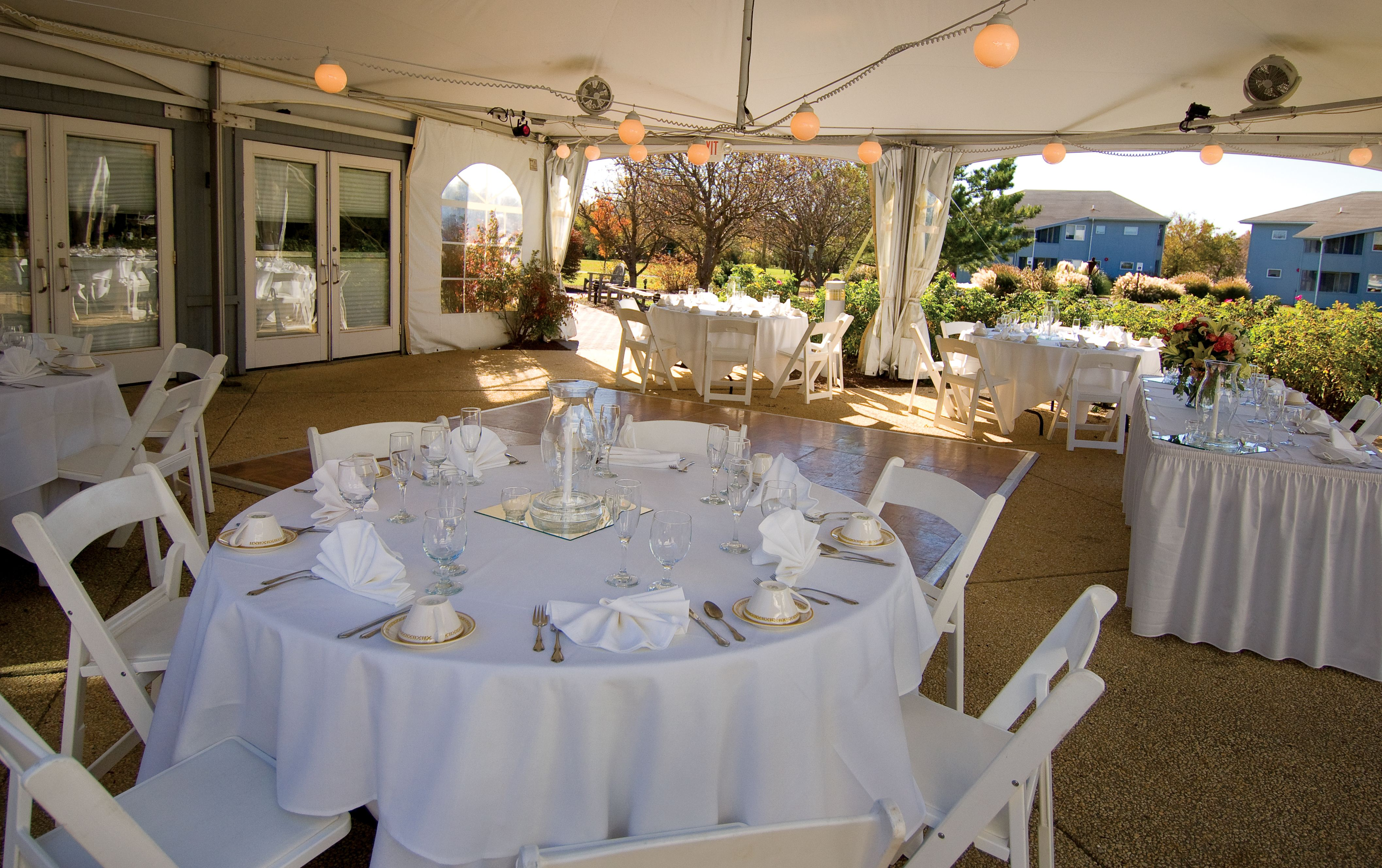Relaxed beach wedding  Enjoy a relaxed wedding under the tent at the Virden Center in Lewes