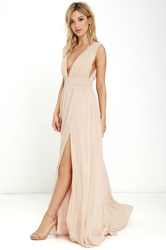 Heavenly Hues Blush Maxi Dress at Lulus.com! e275420b3ac9