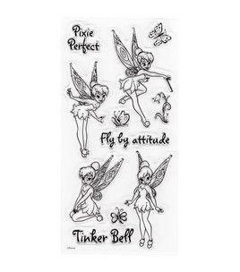 Disney Clear Stamps Tinker Bel Libro De Hadas Tatuaje Campanilla Tatuajes