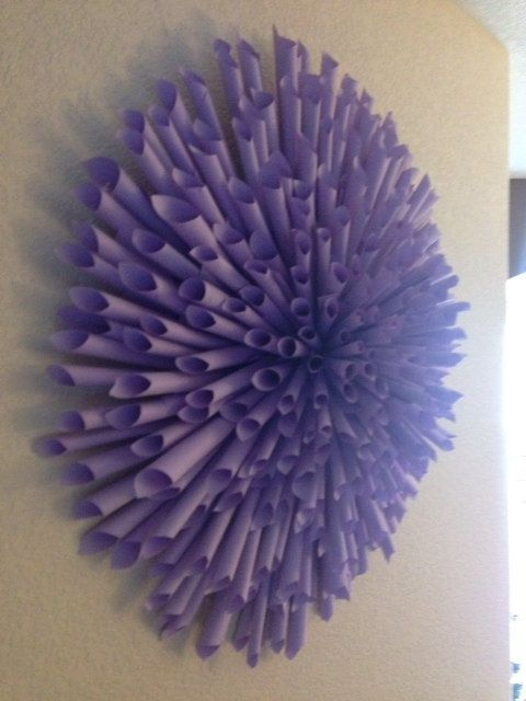 Handmade Book Paper Flower Wall Decor