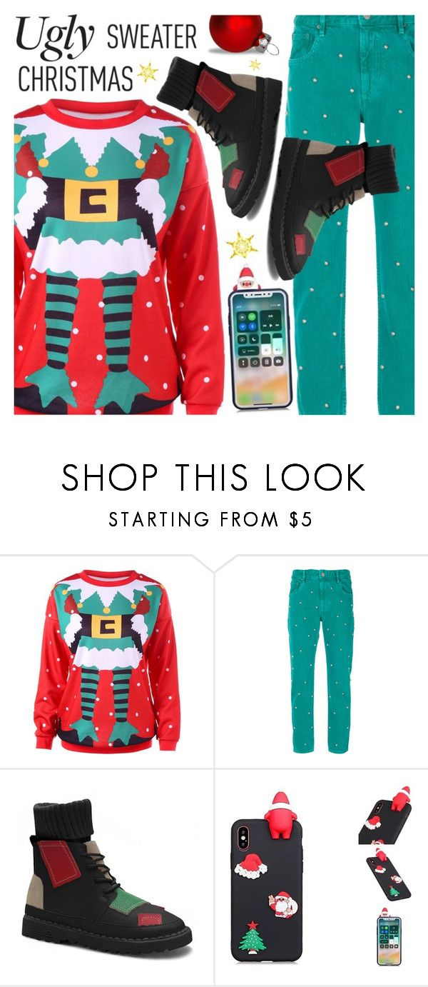 """ugly christmas sweater"" by meyli-meyli ❤ liked on Polyvore featuring Étoile Isabel Marant, contestentry, polyPresents and gamiss"