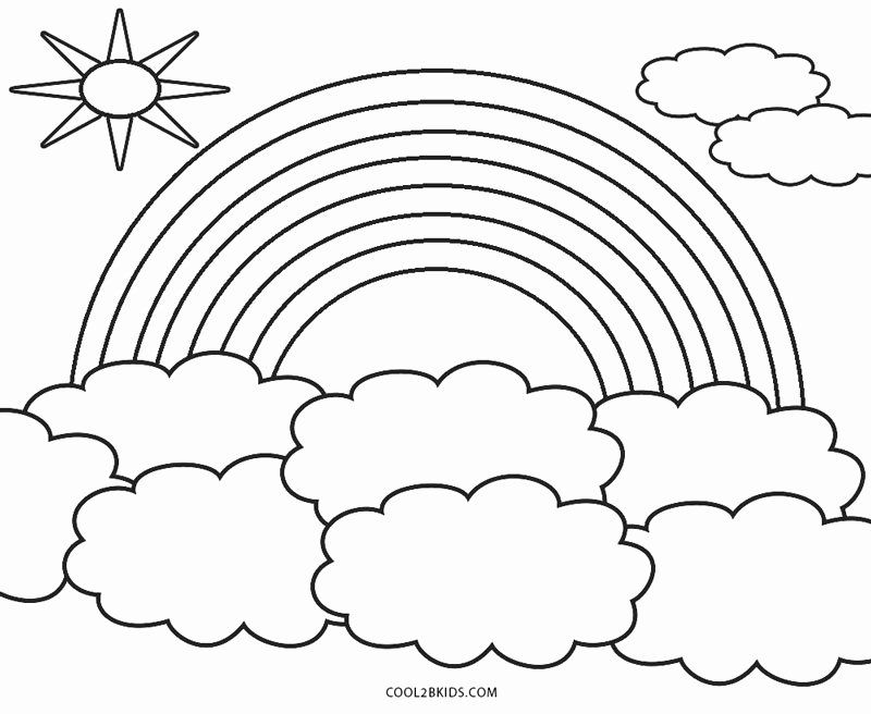 Printable Rainbow Coloring Sheet Lovely Free Printable Rainbow Coloring Pages For Kids Coloring Pages Coloring Pages For Kids Coloring Calendar